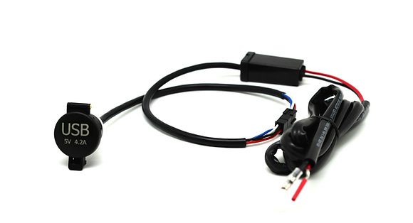 Cliff Top 4.2 Amp Mini Panel Mount USB Charger for Motorcycle and Scooter