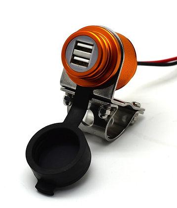 Cliff Top 4.6 Amp Aluminium Motorcycle Handlebar USB Charger (GLD)