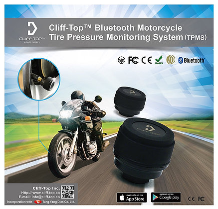 Cliff-Top® Motorcycle Bluetooth TPMS