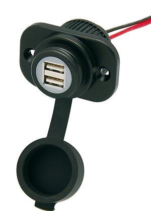 Cliff-Top® 12V 3.3 Amp Dual USB Panel Mount