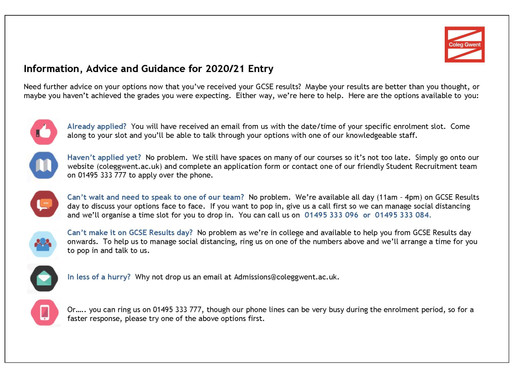 GCSE Results & Information