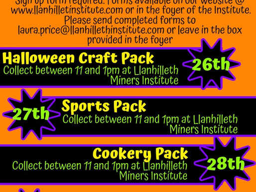 Half Term Halloween Activity Packs