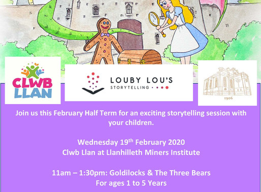 Louby Lou's Storytelling at Llanhilleth Institute