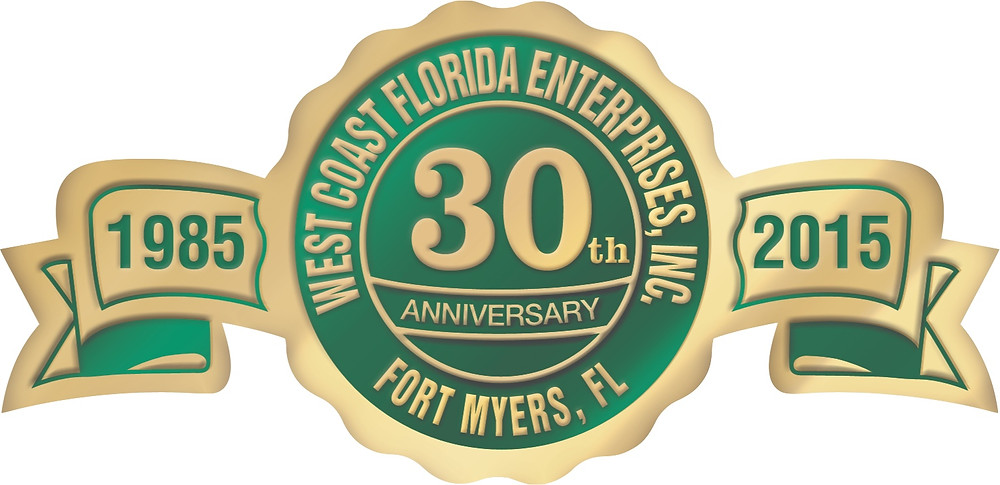 West Coast Florida Enterprises 30 year anniversary logo
