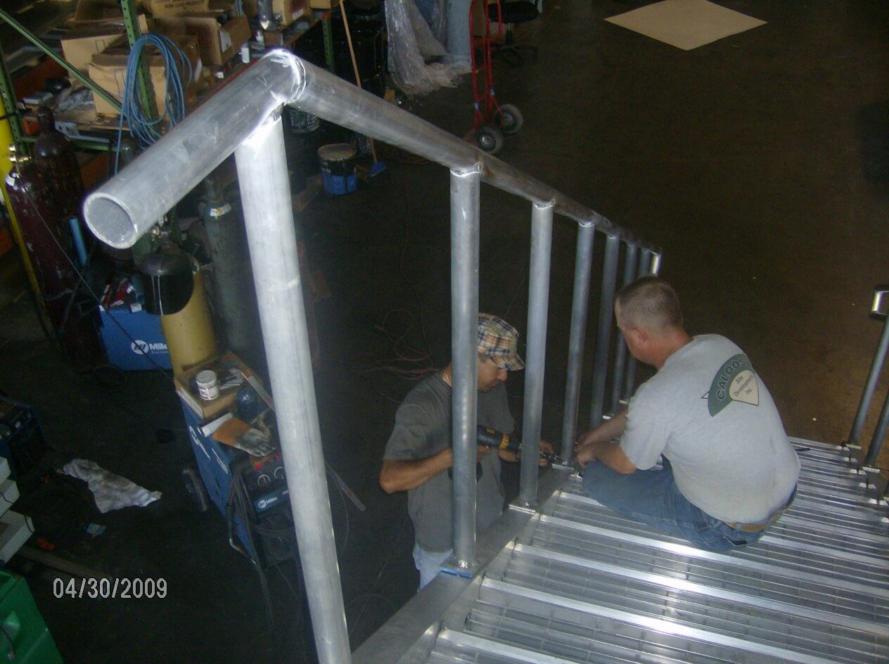 Outdoor stairs & railings fabricated