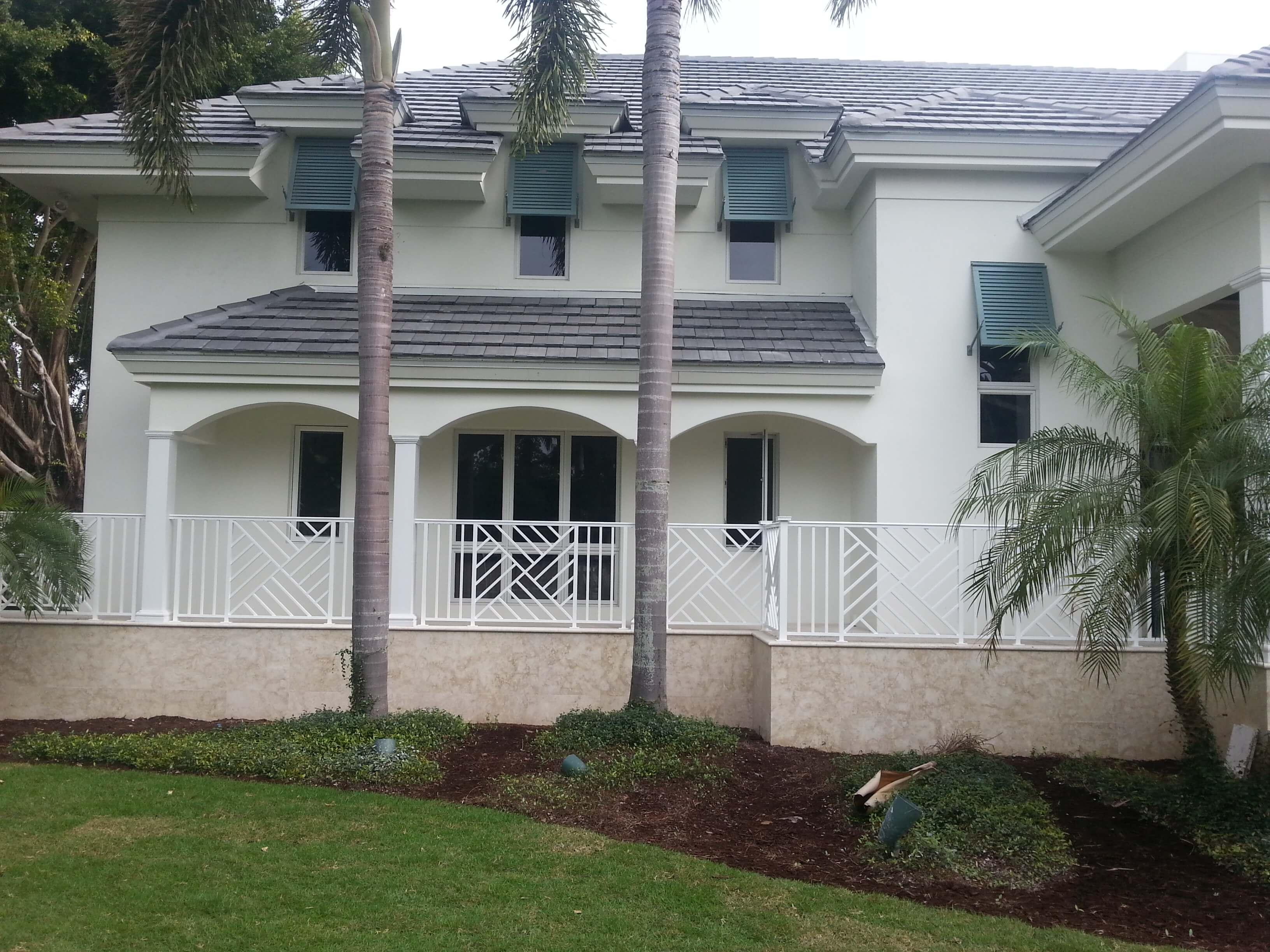 Custom railings and shutters