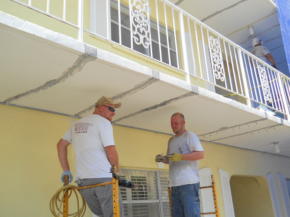 concrete deck repair for condos in Naples, FL