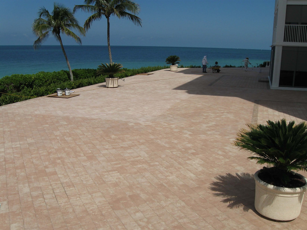 Sanded brick pavers