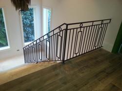 Metal interior staircase railing