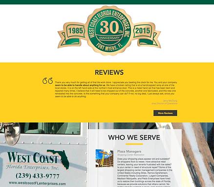 West Coast Florida Enterprises New desktop Website