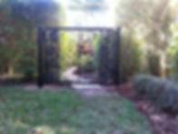 Custom welded ornamental gate at home in Naples, Florida