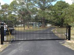 Custom welded driveway gate