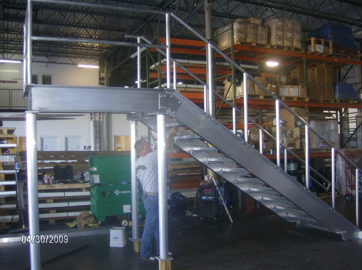 Fabricating metal stairs & railings