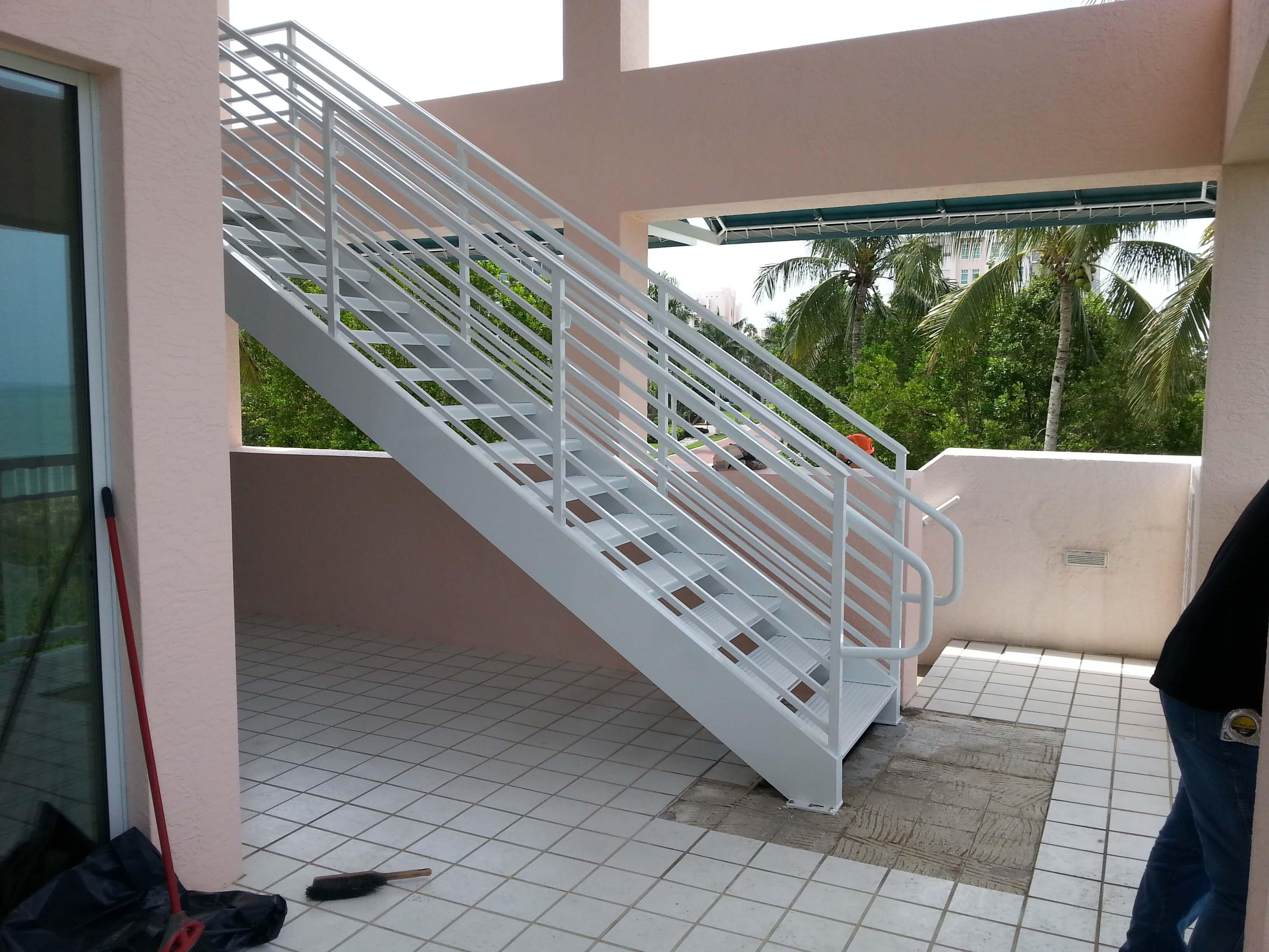 Custom welded aluminum staircase