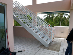 Custom welded aluminum staircase