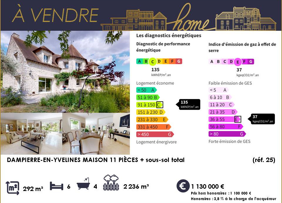 Maison 11 pièces Dampierre en Yvelines