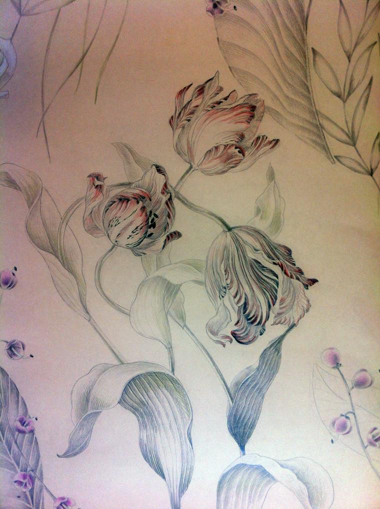 A study of those beautiful tulips