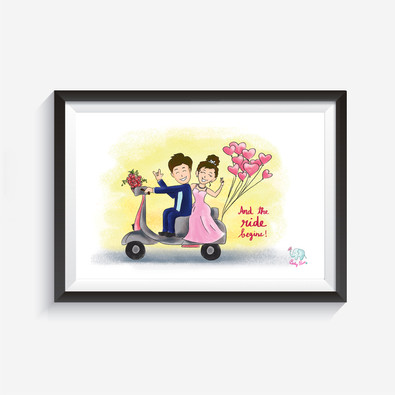 The ride begins Wall Art  These wall arts will make your wall smile :)