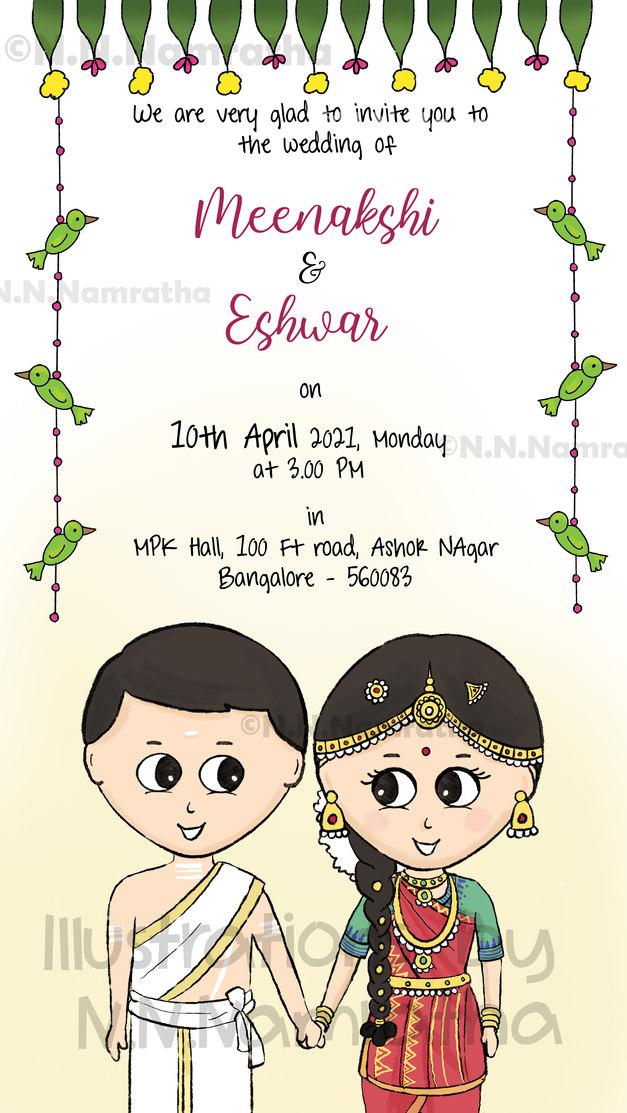 Iyer Tambrahm Wedding Invite