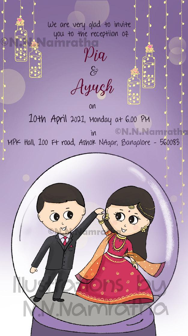 Dancing Couple Invite