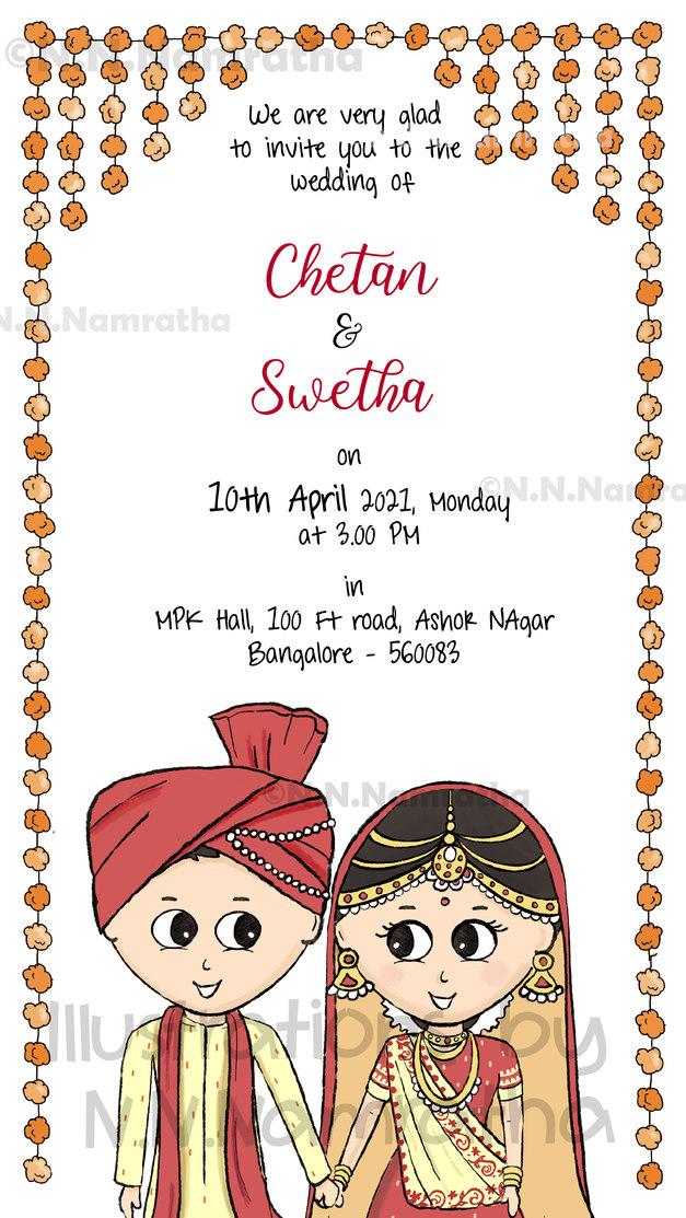 Gujrati wedding Invite