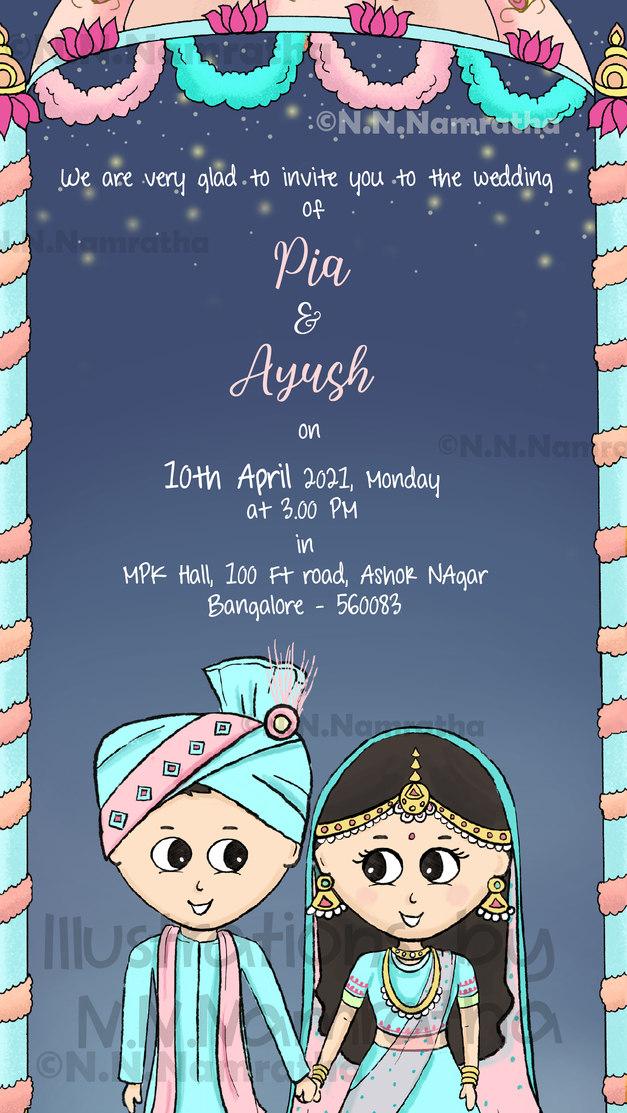 North Indian Wedding Invite