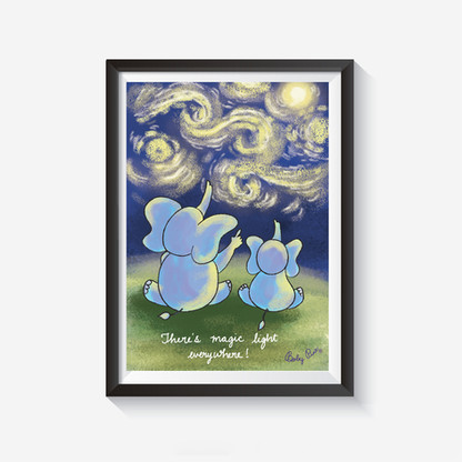 Starry sky Wall Art  These wall arts will make your wall smile :)