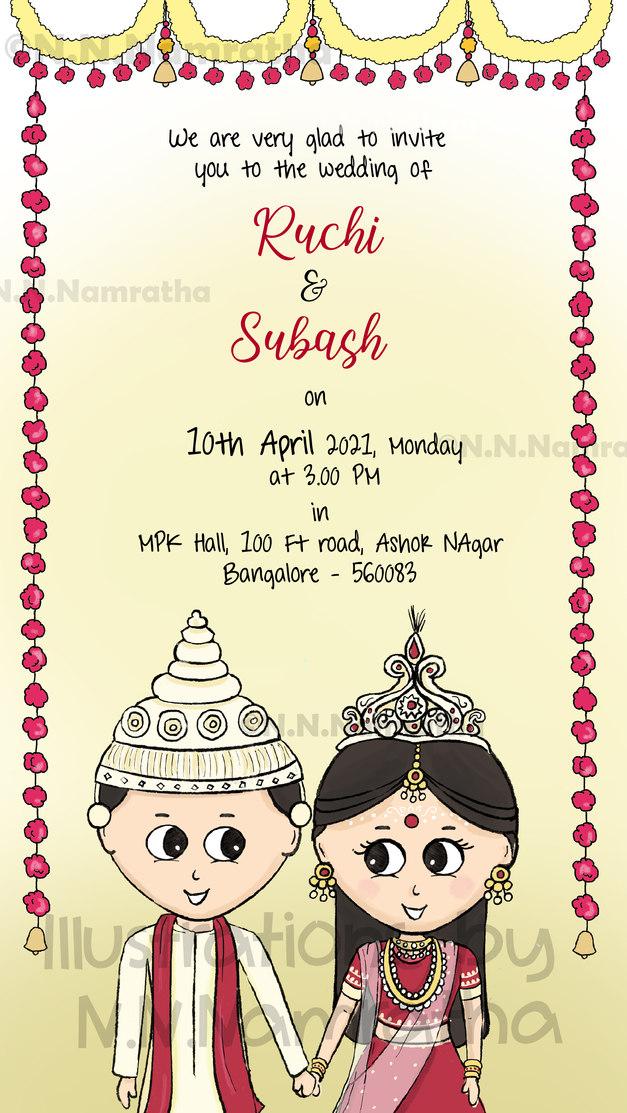 Bengali Wedding Invite