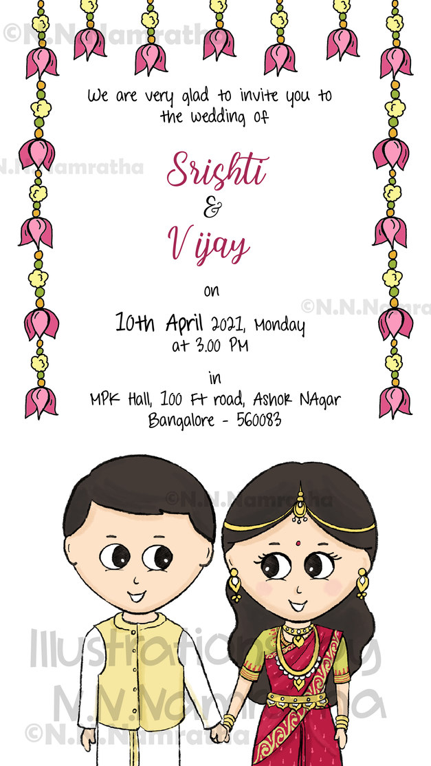 South Indian Wedding Invite