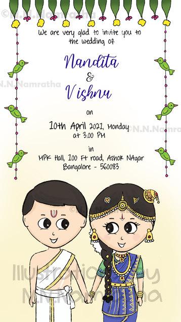 Iyengar Tambrahm Wedding Invite