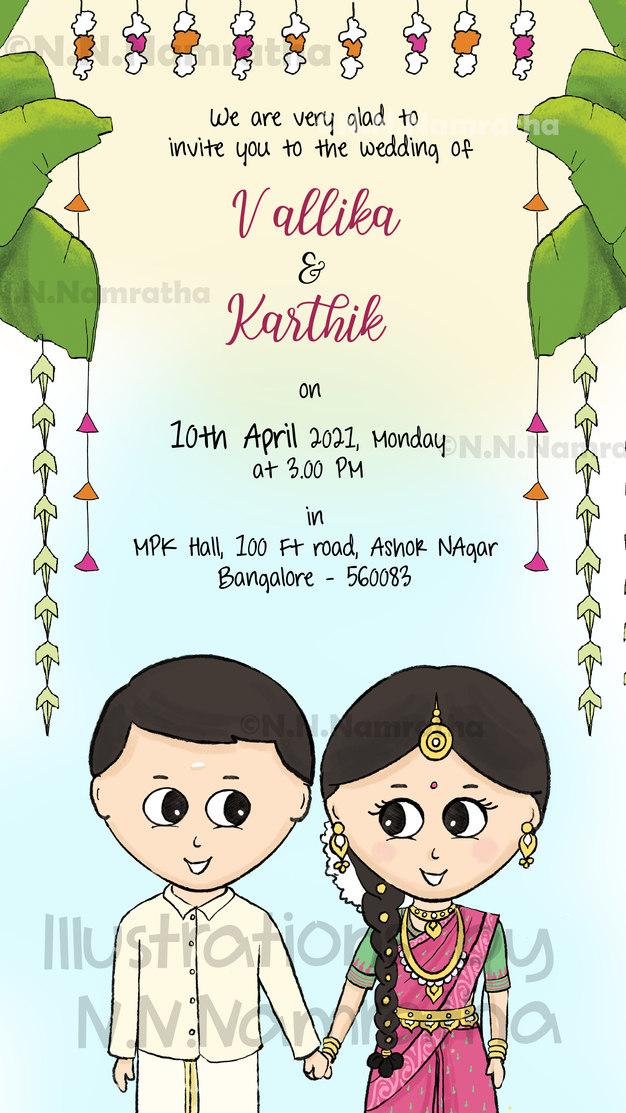 Tamil Nadu Wedding Invite