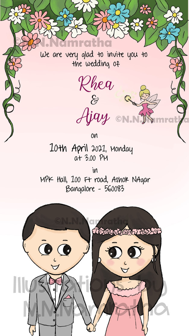 Flowery Invite