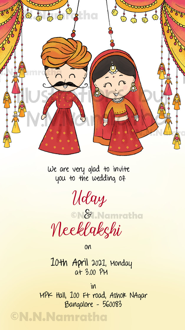 Rajasthani wedding Invite