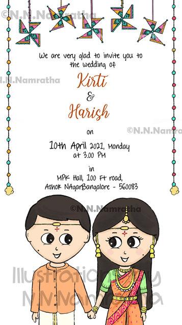 Telugu Wedding Invite