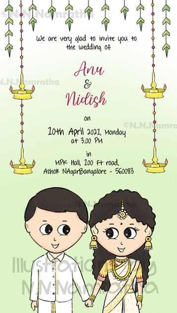 Kerala Wedding Invite
