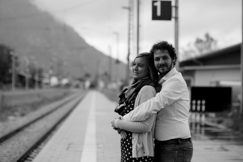 Liebe am Bahnsteig