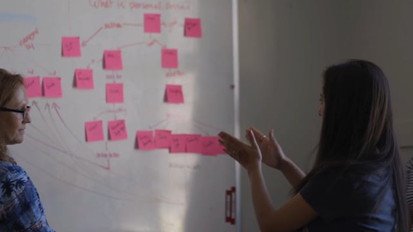"""Concept Mapping in a team using post-its (TRY) """"00:37-end"""""""