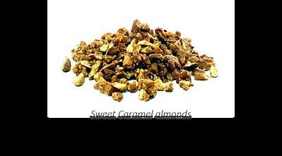 sweet caramel almonds