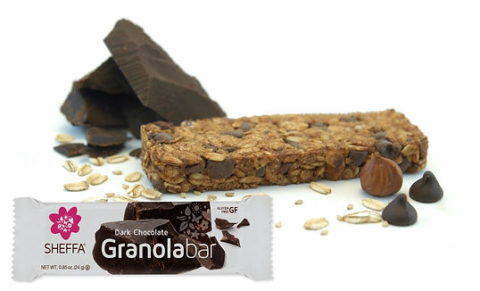 Gluten free oats and brown rice paired with dark chocolate