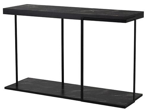 FAUX MARBLE CONSOLE TABLE