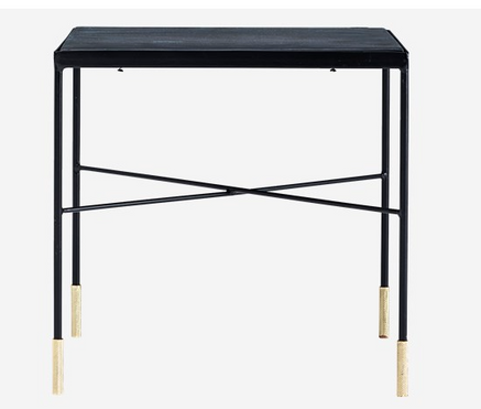 coffee table / side table - black gold edge