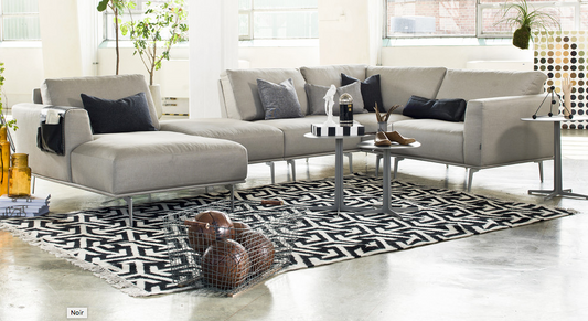 Corner sofa - too large but components mean you can pick two - see dimension images