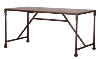 possible kitchen table on wheels industrial style as island near kitchen - seating height normal