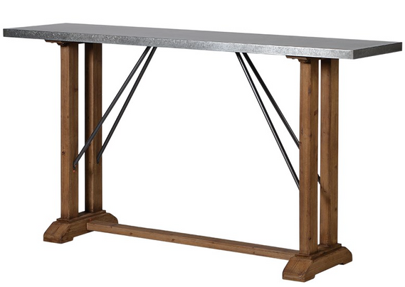 High industrial style table for near kitchen or under window in chill out corner