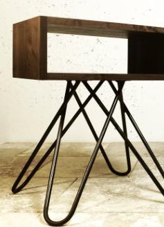 hair pin leg bedside table