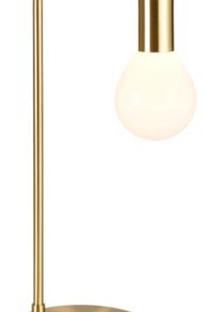 Pair Designer Brushed Gold Lamps  £110+VAT