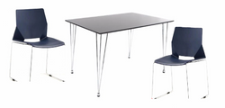 Modern Dining Chairs with HairPin Leg table (table white OR black)
