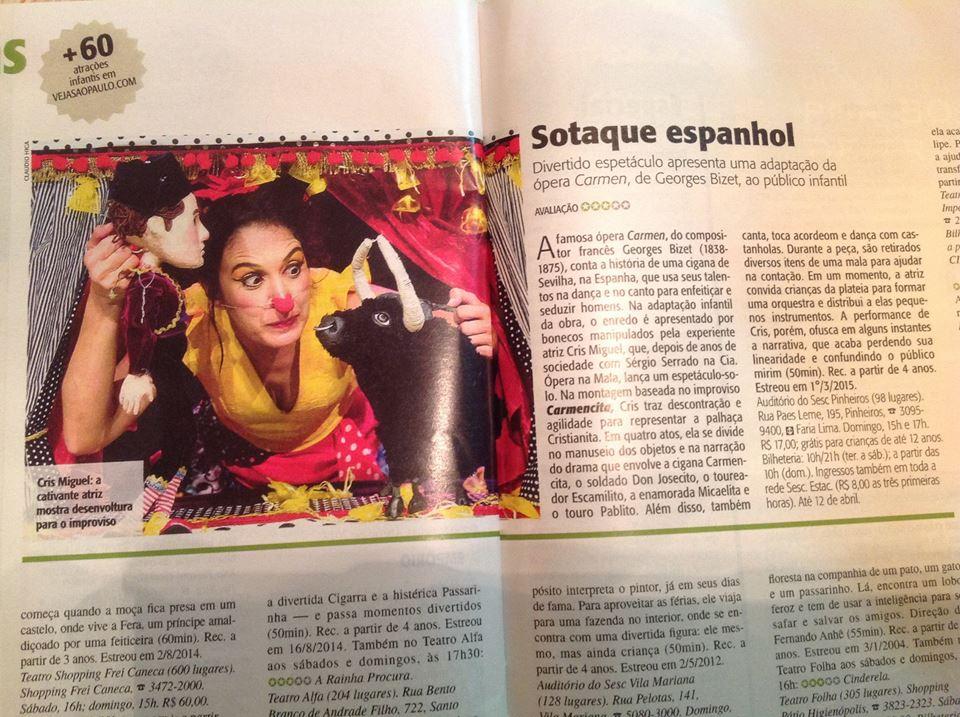 Revista Veja 22mar15 l Carmencita