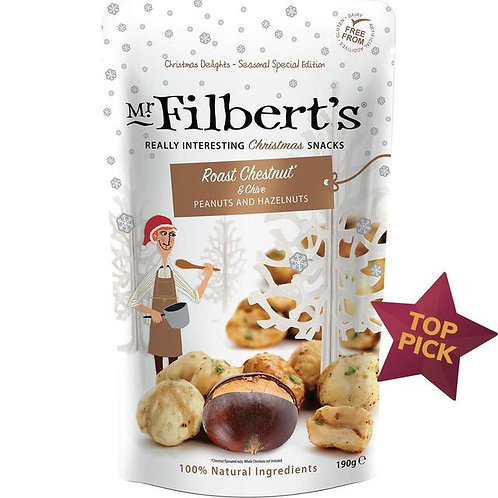 Mr Filberts Roast Chestnut + Chives Christmas  nute