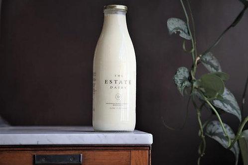 Estate dairy Glass Bottle unprocessed unhomogenised milk